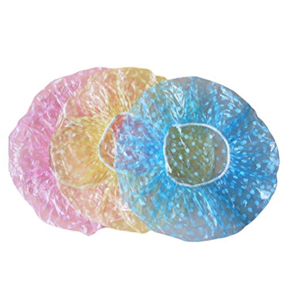 狂う疑い最終Frcolor シャワーキャップ お風呂 キャップ レディース 使い捨てキャップ シャワー サロン用 60枚セット(混色)