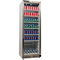 EdgeStar 大型冷蔵ショーケース (約400L容量)Commercial Beverage Merchandiser - ステンレススチール 【並行輸入】/