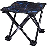 LIOOBO Mini Portable Folding Stool,Folding Camping Stool,Outdoor Folding Chair Slacker Chair for BBQ,Camping,Fishing,Travel,Hiking,Garden,Beach