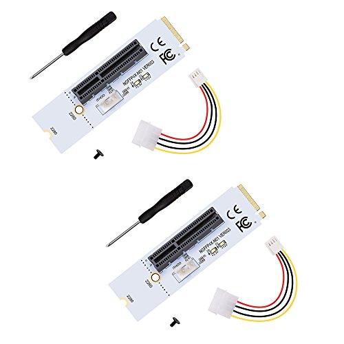 HENGBIRD PCI-E 1X to 4X NGFF M.2 Key M スロットアダプタ USB 3.0 PCI-E Express ビットコイン採掘 マイニング 2個セット