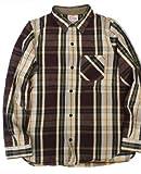 """(デラックスウェア)DELUXEWARE 1948s ヘビーネル 長袖 チェック ワークシャツ """"AUTUMN"""" フランネル AUTUMN HEAVY NEL SHIRTS ウォッシュド HV-28 XL バーガンディ"""