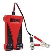 MOTOPOWER MP0514C 12Vデジタルバッテリテスタ電圧計および充電システムアナライザ(LCDディスプレイおよびLED表示付き)- 赤