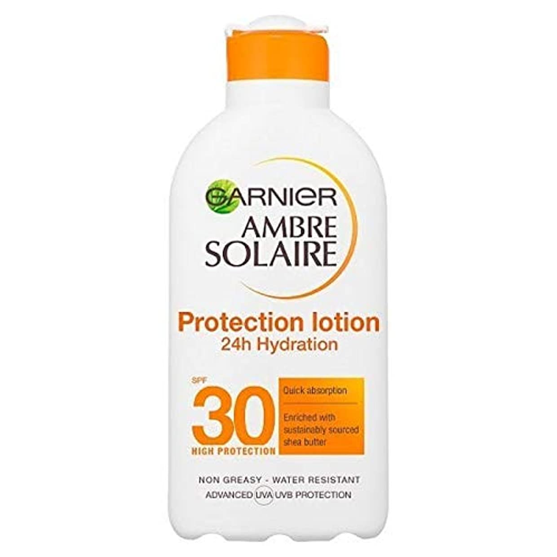 知っているに立ち寄るラリーイノセンス[Garnier ] アンブレSolaire超水和日クリームSpf30の200ミリリットル - Ambre Solaire Ultra-hydrating Sun Cream SPF30 200ml [並行輸入品]