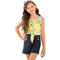 Review 8-14 Girls High Waisted Sailor Shorts Navy