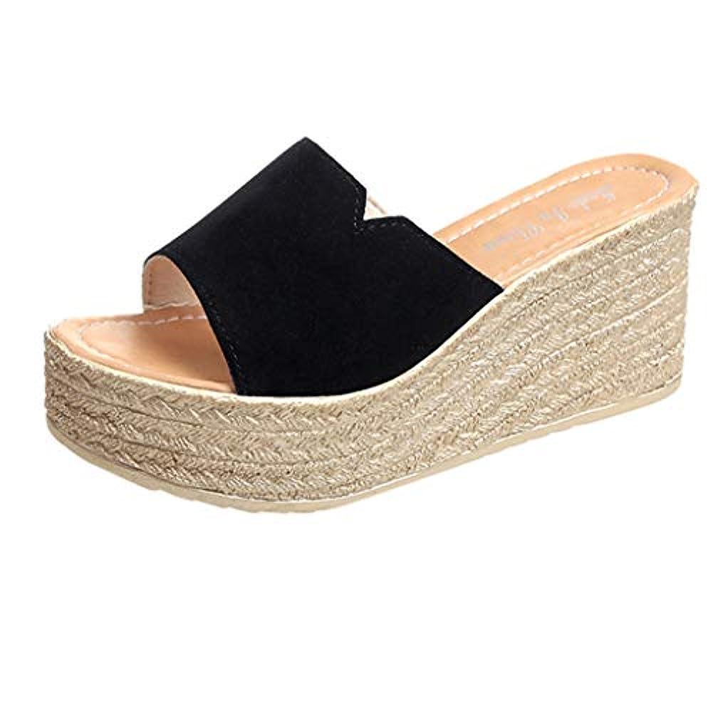 やりすぎ肯定的シーボードウェッジソール ミュール Foreted ビーチサンダル 履き心地 厚底靴 日常着用 オープントゥ 下履き スリッパ 痛くない 夏 海