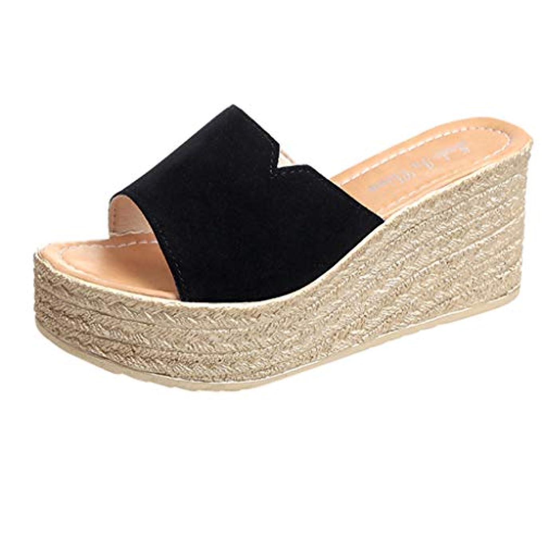 一緒流暢起きろウェッジソール ミュール Foreted ビーチサンダル 履き心地 厚底靴 日常着用 オープントゥ 下履き スリッパ 痛くない 夏 海