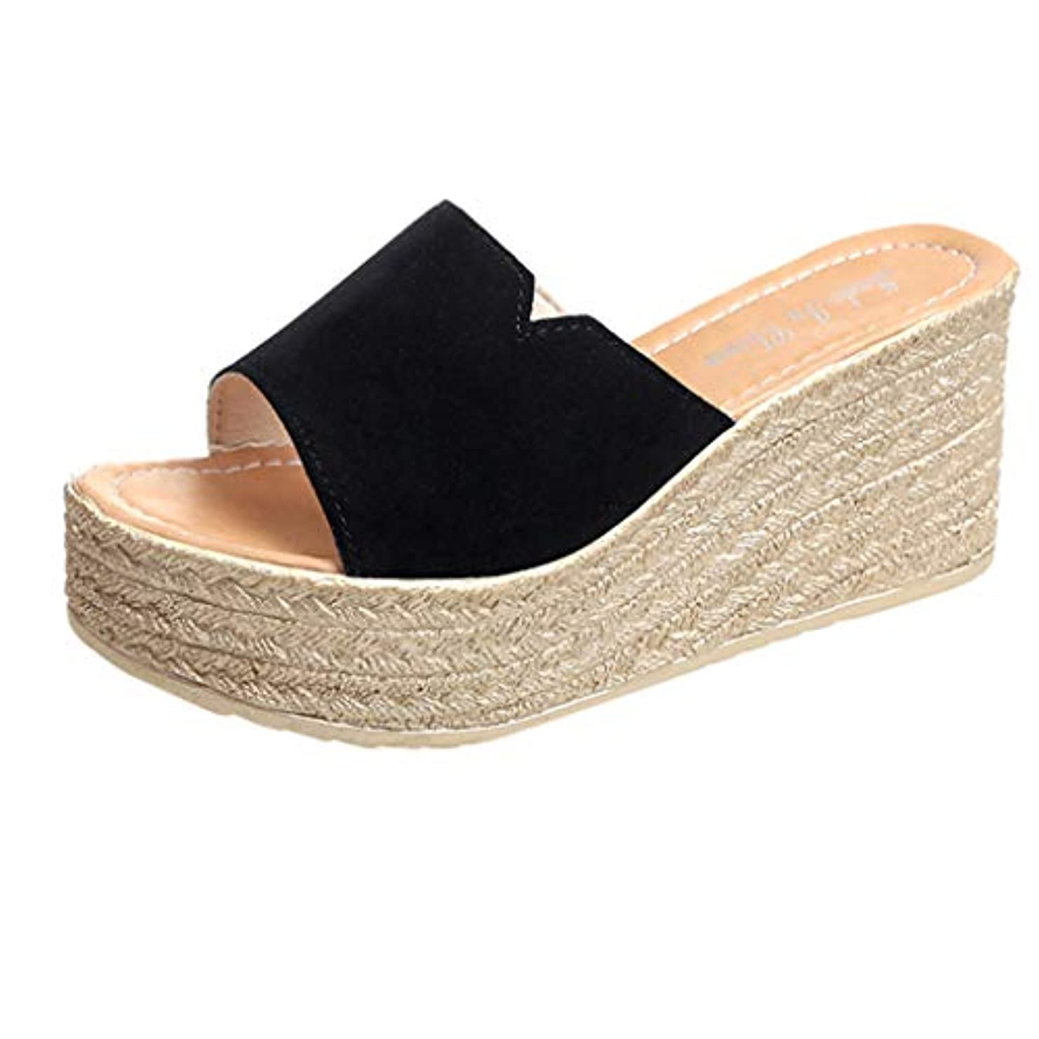 ウィンクブラザーフロンティアウェッジソール ミュール Foreted ビーチサンダル 履き心地 厚底靴 日常着用 オープントゥ 下履き スリッパ 痛くない 夏 海