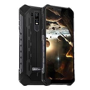 Ulefone Armor 6 SIMフリー スマートフォン IP68 IP69K 防水 防塵 耐衝撃 5000mAh大容量バッテリー Android 8.1 6.2インチ大画面 デュアルsim (nano)+ 1TFカードスロット 21MP+13MPデュアルリアカメラ 8MPフロントカメラ 6GB RAM +128GB ROM (256 GBまでサポートする) グローバル4G LTE ウトドアスマホ 紫外線検出器 NFC OTG QI対応 (10w高速充電) 指紋認証 顔認証 一年保証 au不可(ブラック)