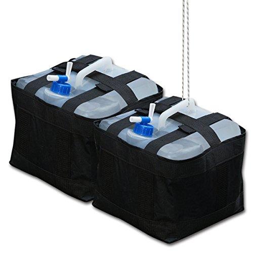 FIELDOOR タープテント共用 ウェイトバッグ&ウォータータンク おもり (ペグが使用出来ない場所のテント設営時必需品!) (2個セット)