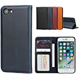 iPhone SE 2020 Case,for iPhone SE2 Case,iPhone 8 Case,iPhone 7 Case,Jaorty Smooth Cowhide Leather Folio Flip Wallet Case Magn