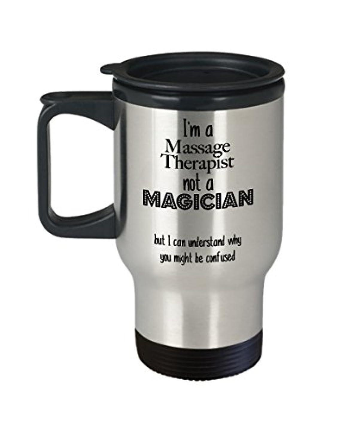 明快絶望ジョガーマッサージ療法マッサージ療法のマグカップ、面白いコーヒーマグカップギフトステンレススチールトラベルギフトコーヒーマグ