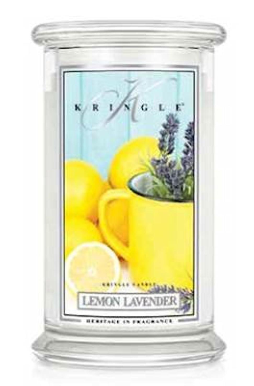 ガウンお金肯定的Kringle CandleレモンラベンダーLarge 2-wick 22 oz 100 Hour Jar by