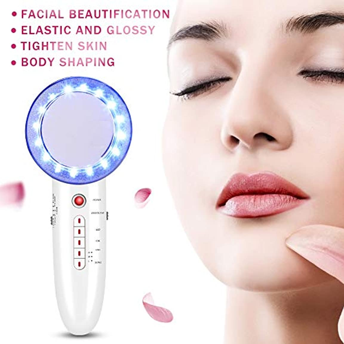 報復文献新しさ6 In 1 EMS Ultrasonic Massager Body Slimming Anti Cellulite Massage Cavitation LED Galvanic Ion Fat Weight Loss