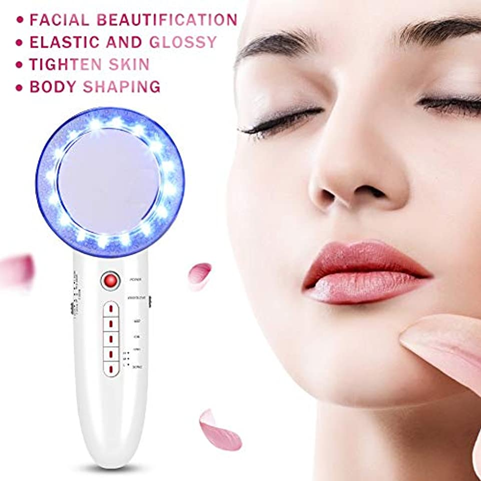 収穫論理インスタンス6 In 1 EMS Ultrasonic Massager Body Slimming Anti Cellulite Massage Cavitation LED Galvanic Ion Fat Weight Loss