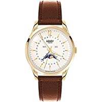 Henry London Unisex Westminster Watch with Moonphase and Tan Leather Strap HL39-LS-0148