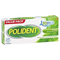 Polident Denture Adhesive Cream 2 x 60g Pack (Exclusive Size)