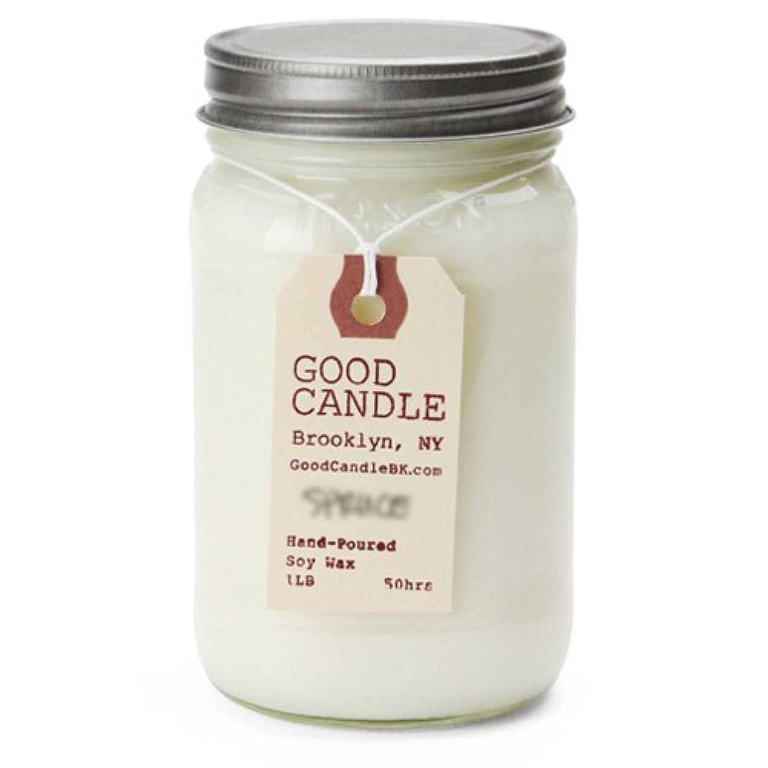 愛国的な子供っぽいリビジョングッドキャンドル 1ポンド メイソンジャー キャンドル Good Candle 1LB Mason jar candle [ Basil ] 正規品