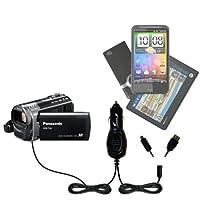 ダブルポートMicro Gomadic車/自動DC充電器Suitable for the Panasonic sdr-t50ビデオカメラ–Charges upと同時に2デバイスをGomadicテクノロジー