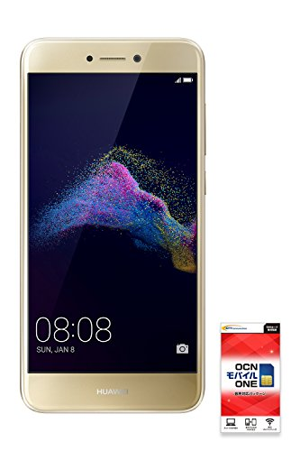 HUAWEI nova lite 【OCNモバイルONE 音声通話対応SIM付】 (ゴールド)