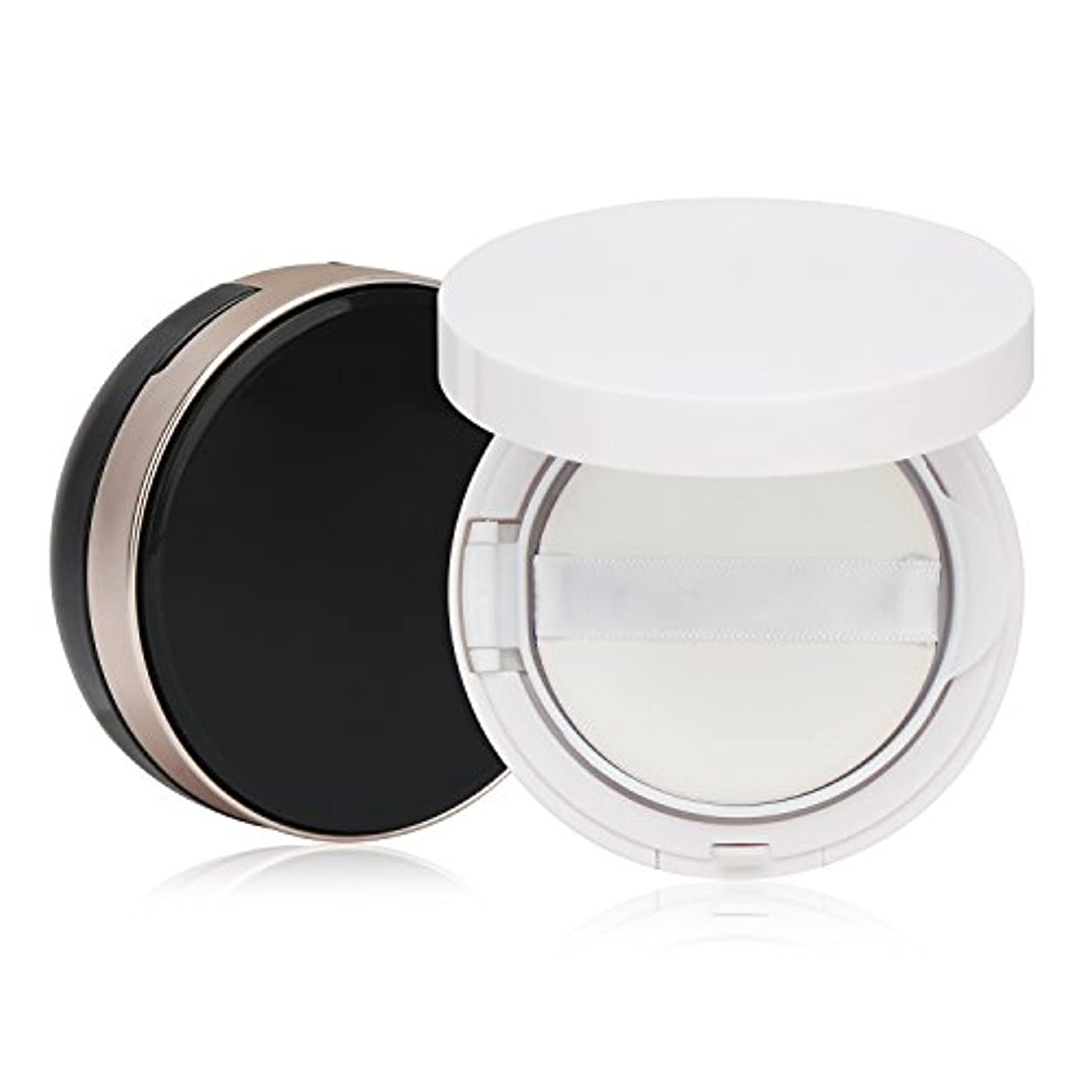 分離する実行するインカ帝国Segbeauty エアクッションボックス パウダーコンテナ BBクリーム 化粧品 詰替え DIY 黒いと白いのセット