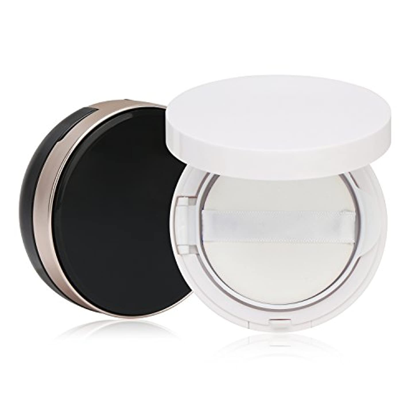 Segbeauty エアクッションボックス パウダーコンテナ BBクリーム 化粧品 詰替え DIY 黒いと白いのセット