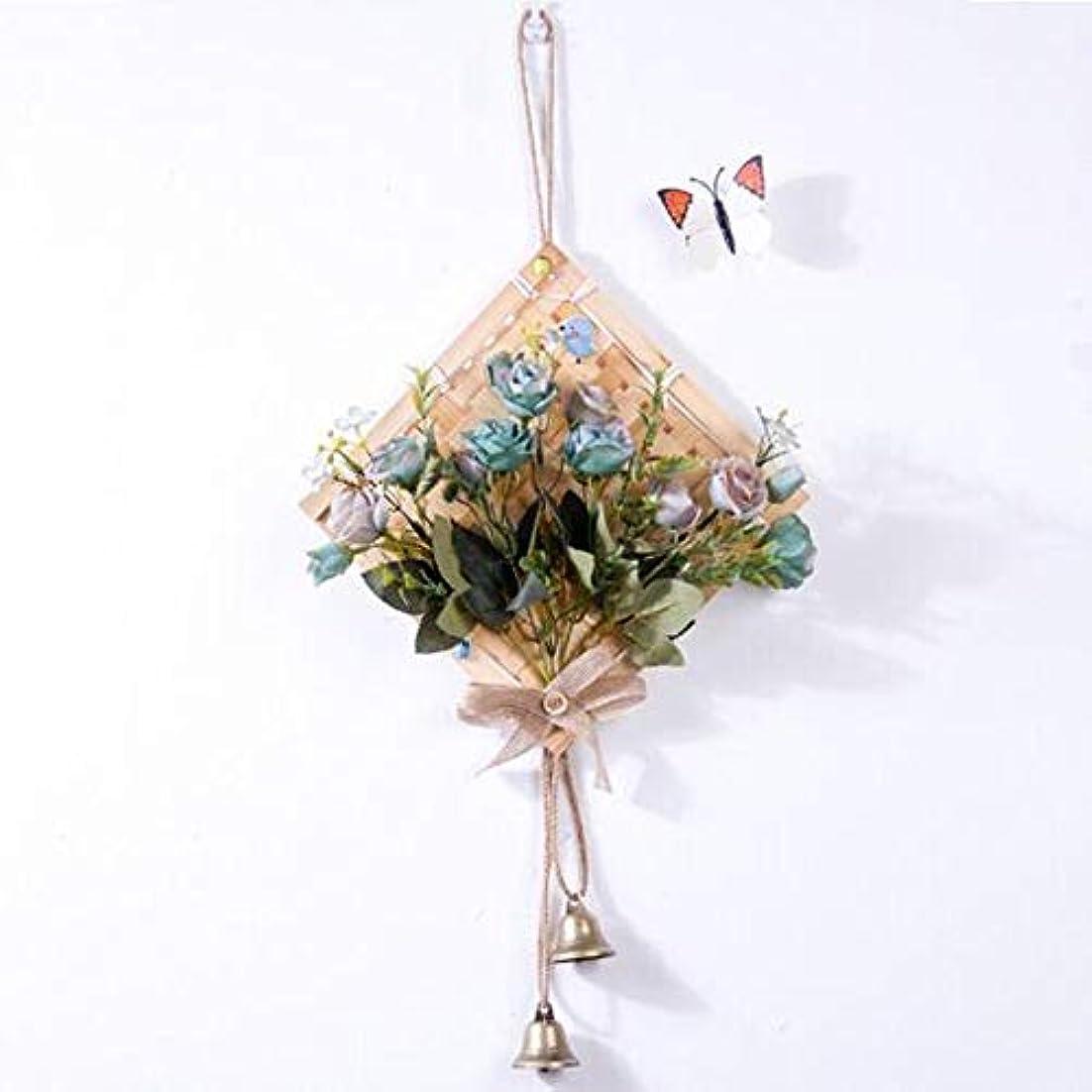 血統中毒寄託Gaoxingbianlidian001 風チャイム、クリエイティブ?竹風チャイム、白、幅28.5cmくらい,楽しいホリデーギフト (Color : Blue)