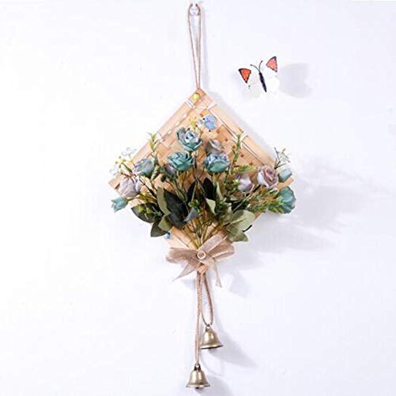 息苦しい抜本的な宣言するGaoxingbianlidian001 風チャイム、クリエイティブ?竹風チャイム、白、幅28.5cmくらい,楽しいホリデーギフト (Color : Blue)
