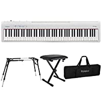 ROLAND FP-30 WH 電子ピアノ KS-060 スタンド ベンチ キーボードケース付き 4点セット
