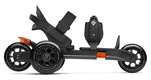 Cardiff(カーディフ) S1-001 Company 3-Wheel Skates 3輪 スケート S1 (正規輸入品) ブラック/オレンジ 550080