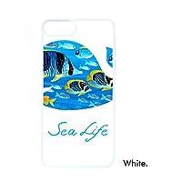 ディープシーライフ・クジラ iphoneの8/7プラスホワイトphonecaseアップルカバーケースギフトの場合