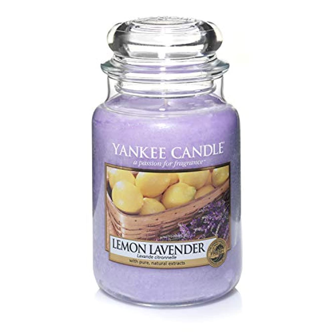 おもしろい小学生活性化するYankee Candle Lemon Lavender Large Jar Candle, Fresh Scent by Yankee Candle Company