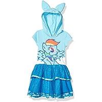 My Little Pony Girls LJSTE42-5T56 Rainbow Dash Toddler Girls' Costume Ruffle Dress Short Sleeve Casual Dress - Blue
