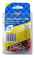 Sterling Stationery ペーパークリップ 150個パック ホワイト グリーン イエロー ブルー ピンク
