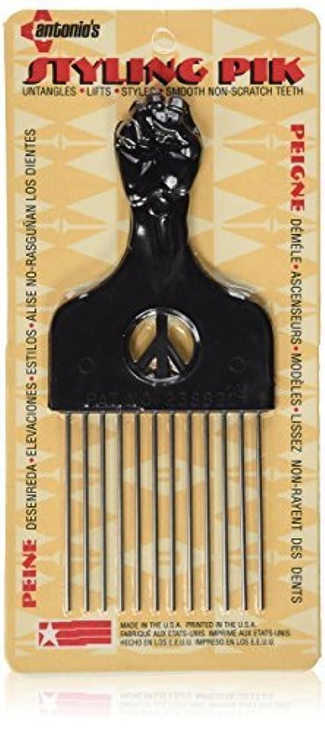 深い感情の研磨剤Legends Creek Antonios Made In America Metal Hair Styling Pik for Volume & Tangles [並行輸入品]