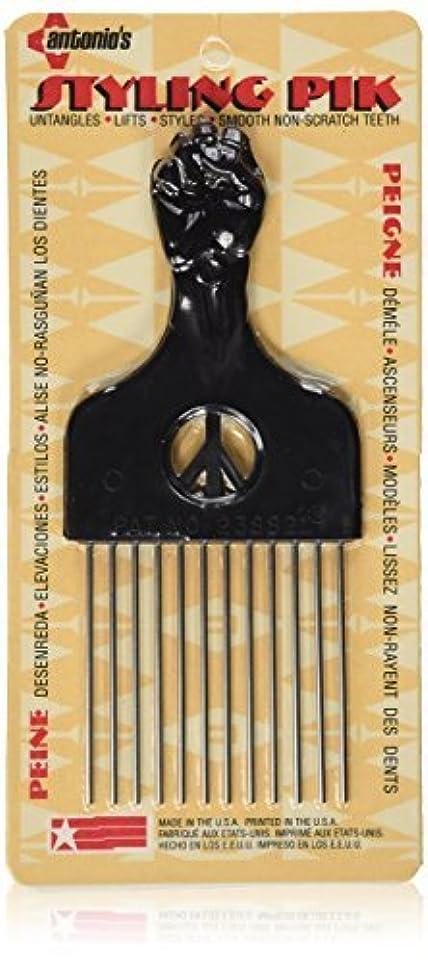 ライン篭効果Legends Creek Antonios Made In America Metal Hair Styling Pik for Volume & Tangles [並行輸入品]