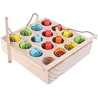KESOTO マッチングおもちゃ 子供 教育玩具 1-15番号 木製 マグネット 釣りゲーム