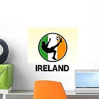 Ireland Soccer Wall Decal by Wallmonkeys Peel and Stick Graphic (18 in H x 18 in W) WM325379 [並行輸入品]