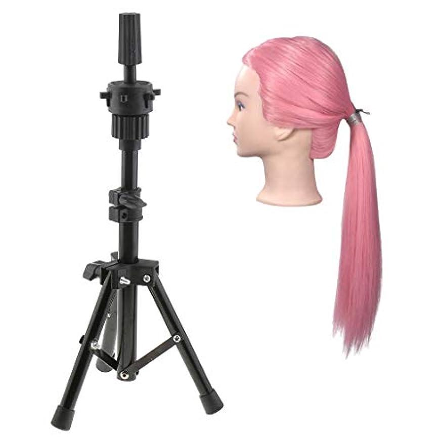 フリンジかなりフォームDYNWAVE マネキンヘッド かつらトレーニング 練習用ウィッグ 編み込み練習用 カット 合成繊維製 理髪師 理髪サロン
