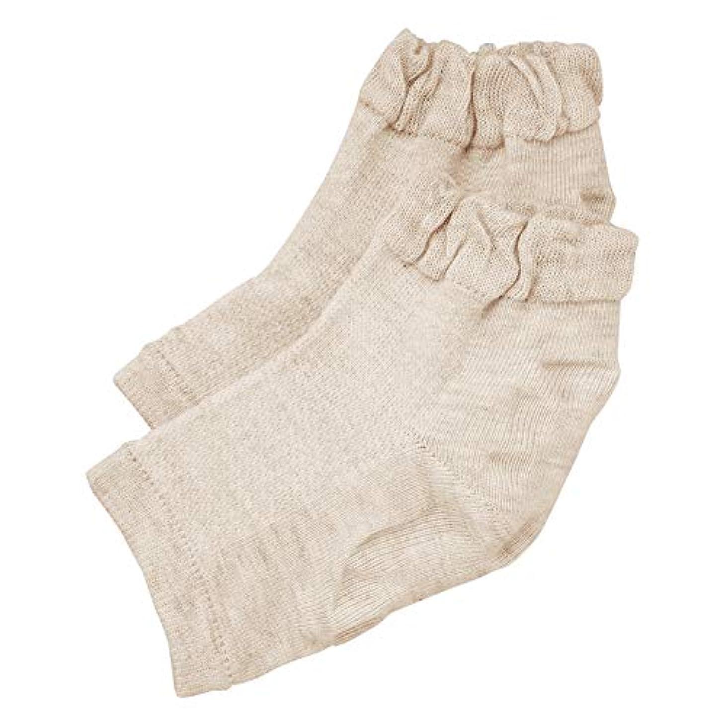 盆地部門ソケット履き口ゆったりかかとつるり ケア 靴下 ガサガサ 保湿