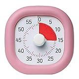 タイマー 静音 カチカチ気にならない 子供 時間 タイム管理 シリーズ2000個販売突破 60分式学習法(ピンク,10cmモデル)(1015-pink-10)