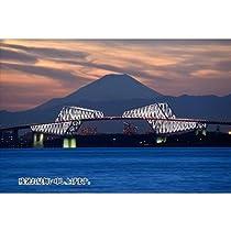 【限定夏の残暑見舞いポストカード】「残暑お見舞い申し上げます。」富士山と東京ゲートブリッジの葉書 はがきハガキ