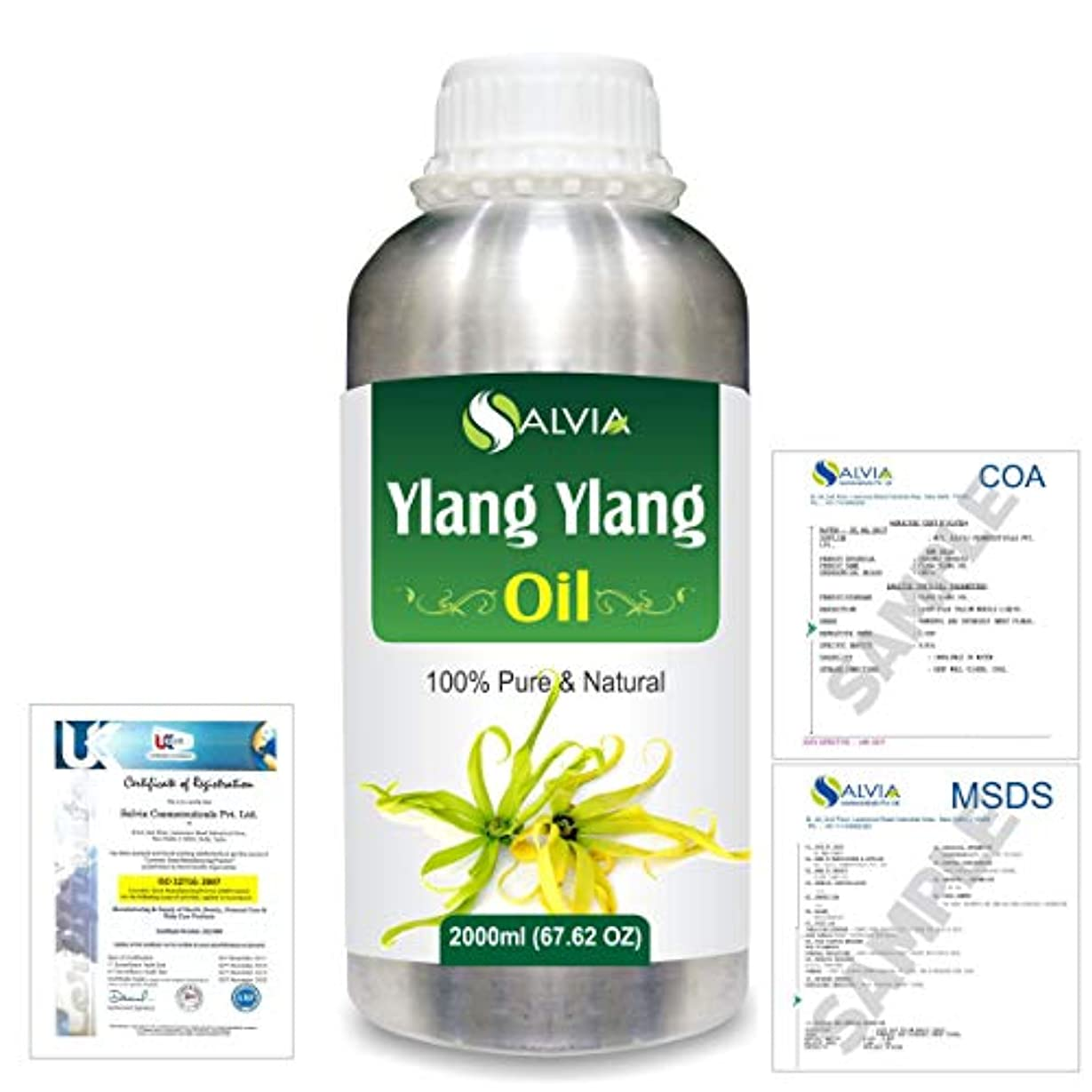どきどき家具お客様Ylang Ylang (Cananga Odorata) 100% Natural Pure Essential Oil 2000ml/67 fl.oz.