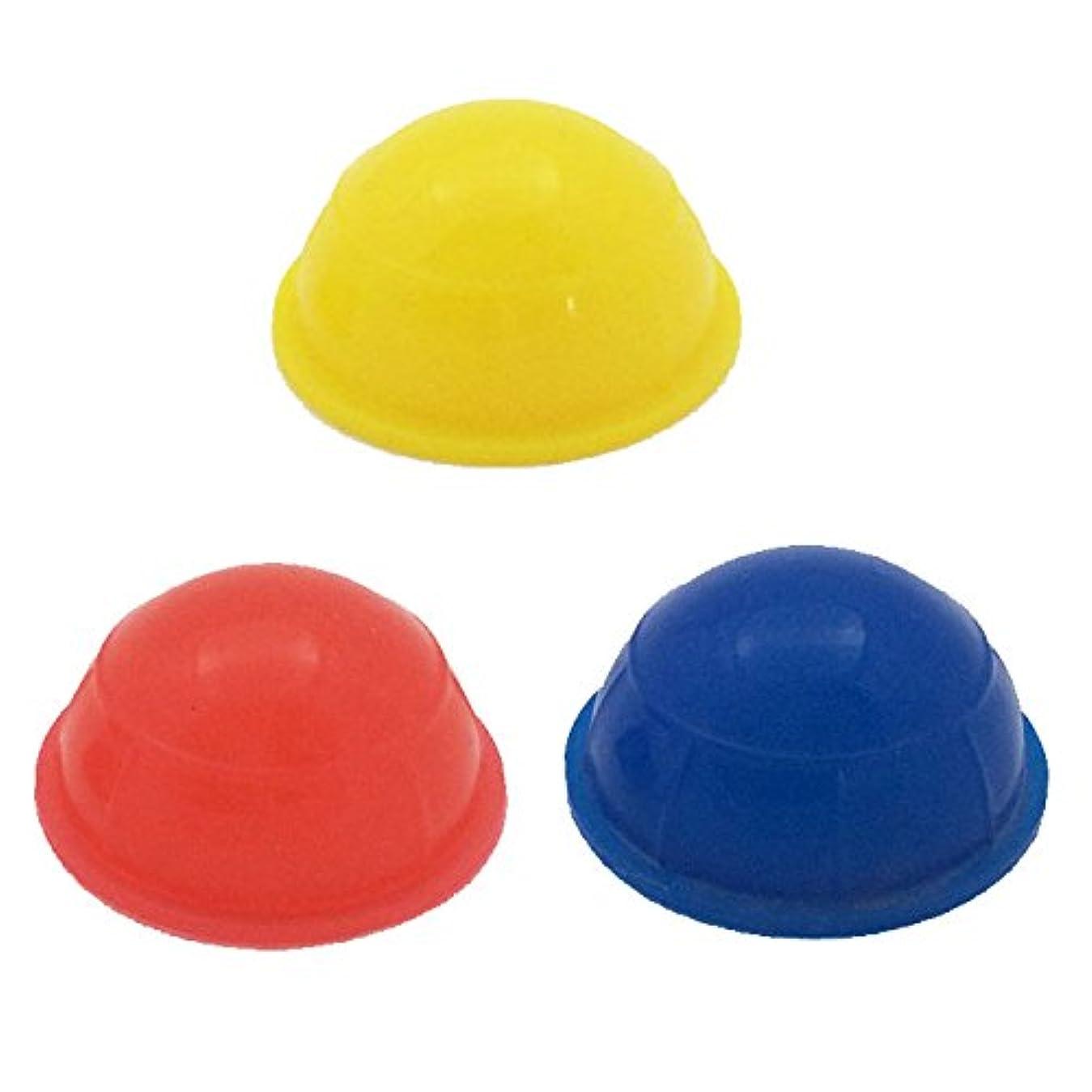 国家オーク例示する超ミニミニ吸い玉 3個セット シリコン製カッピング 直径3.5センチ