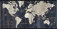 ポスター アーティスト不明 Old World Map Blue 額装品 アルミ製ハイグレードフレーム(ブラック)
