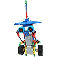 Elegant Crown Prince 組み立て式 電動 ロボット キット 立体パズル 子ども 動くおもちゃ 大人も楽しい (ブルー)