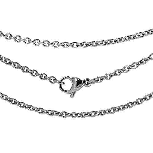 新宿銀の蔵 幅1.9mm~3.7mm あずき サージカル ステンレス チェーン 長さ40cm~60cm ネックレスチェーン レディース メンズ 人気