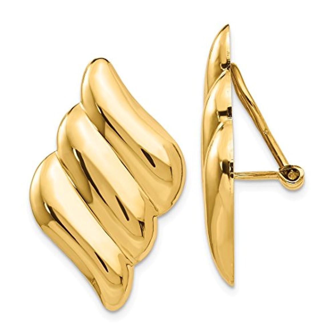 知る領事館失礼なICE CARATS 14カラット イエローゴールド ピアス穴なしクリップオンイヤリング ファインジュエリー 女性へのギフトに最適 ハートからのギフトセット