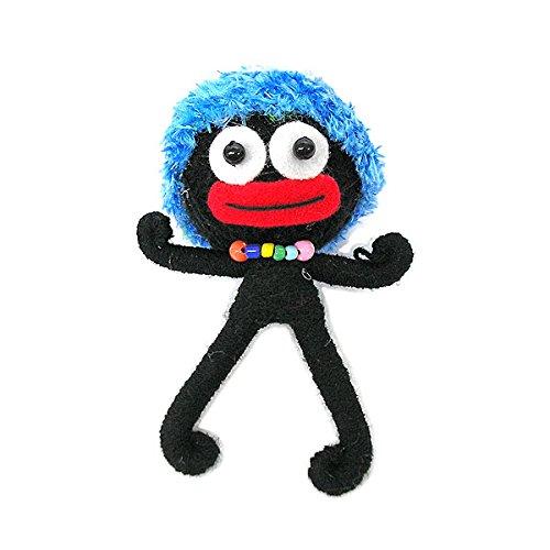 ブードゥー人形 キーホルダー LL 帽子 ブラック H.12cm アジアン雑貨 並行輸入品 [並行輸...