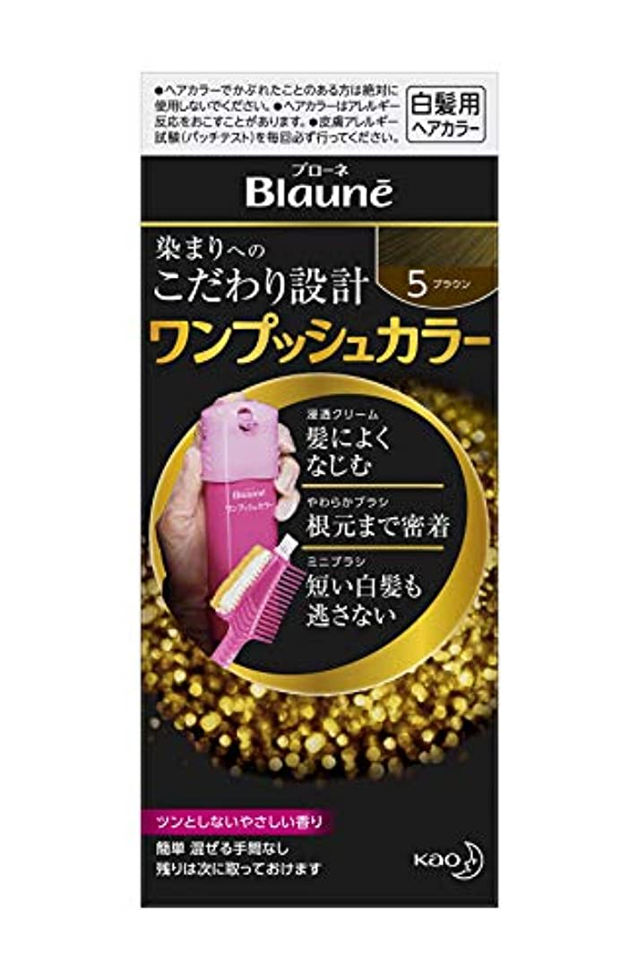 商標無信じるブローネワンプッシュカラー 5 ブラウン 80g [医薬部外品]