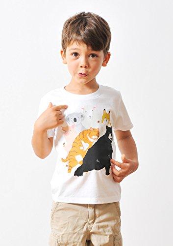 ( グラニフ ) graniph キッズ Tシャツ / チューチュー アニマルズ ( ホワイト ) 90